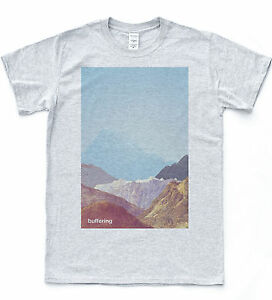 Tampon-T-shirt-Grille-Graphics-Mountain-Tee-Indie-Retro-Couleur-Hipster-TOP