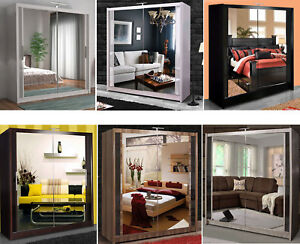 Image Is Loading Bedroom Furniture Chicago Double Sliding Door Wardrobe Six