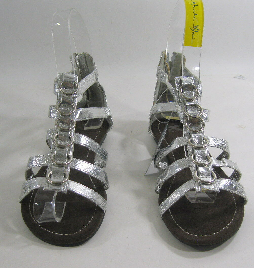 Summer Sexy Silver Open Toe Womens Shoes Sexy Summer Flat Sandals Size 6 f0c48c