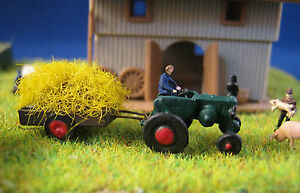 (tr102) Bauer Tracteur Avec Remorque Figurines Voie Z (1:220) Tracteur Rp8i2nqa-07173613-802156467