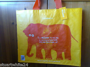 Image Is Loading Sainsburys Reliabag Elephant Reusable Large Ping Bag Bnwt