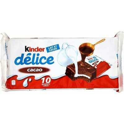 Brand New Kinder Delice Pack Of 10 390gr Total cocoa Milk Sponge Cake Kosher