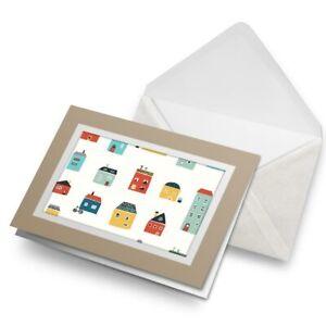 Greetings-Card-Biege-Colourful-Cartoon-Houses-Home-21378