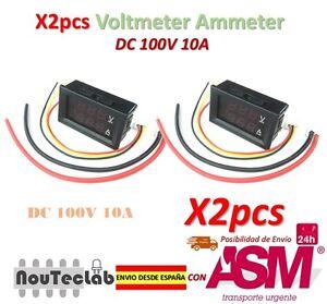 2pz-DC-100V-10A-Voltmetro-Ammeter-Blu-Red-LED-Ah-Dual-Digitale-Volt-Meter