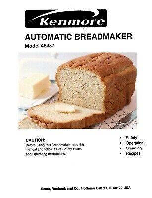 Kenmore Bread Maker Machine 48487 Instruction Operator Manual Recipes Cd Ebay