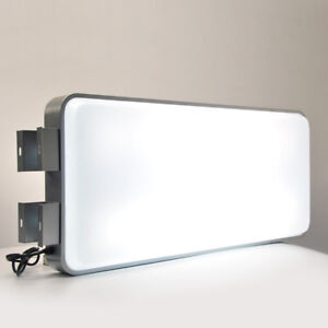 "45x100CM 18""x40"" Rectangular Outdoor Illuminated Projecting Light Box Sign Plain"
