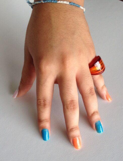 Antica Murrina Laguna--Murano Glass Coral And Gold Ring