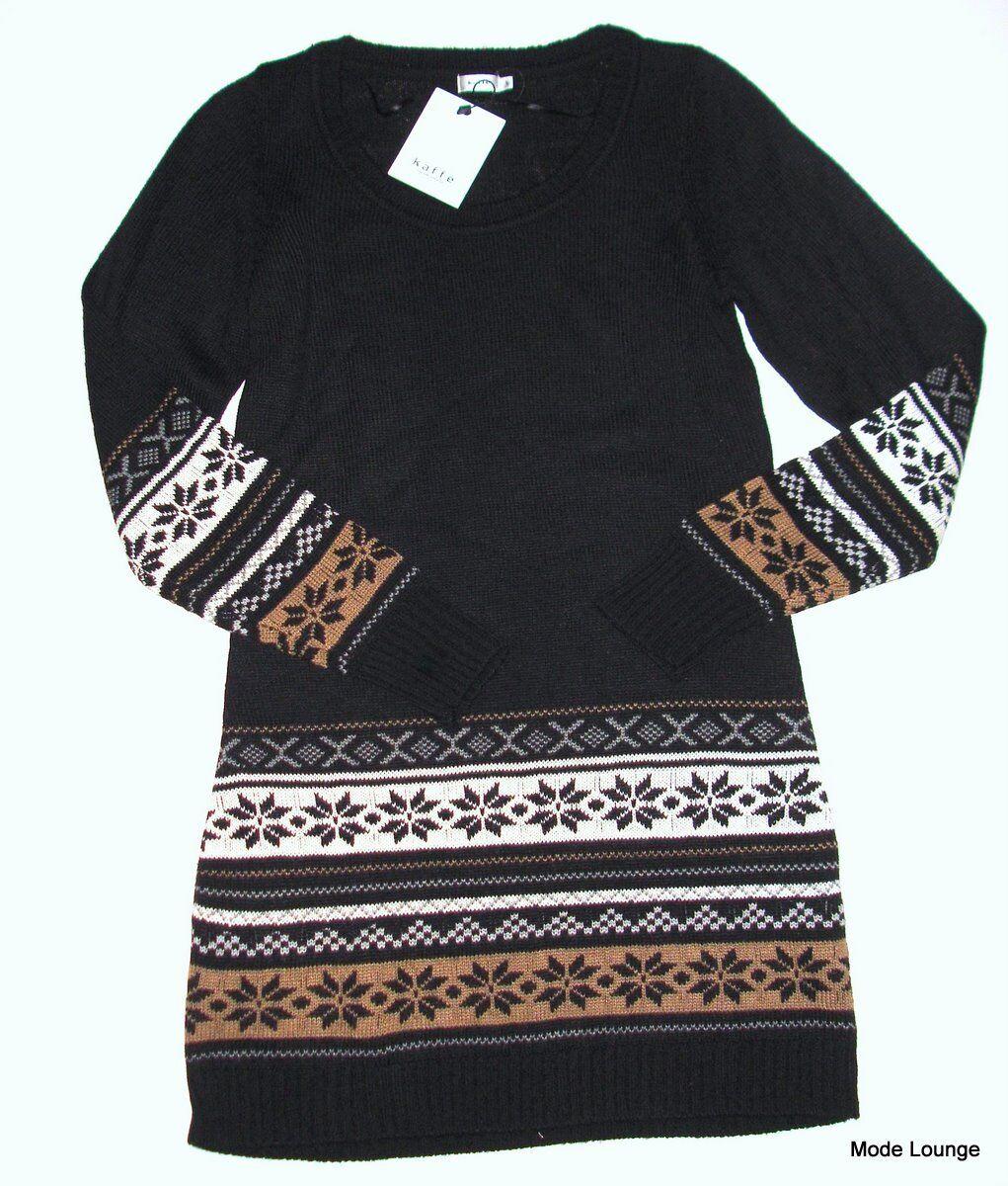 Kaffe - Vestito di maglia maglia maglia - NORVEGESE - TGL S   38 - nero PROFONDO - NUOVO 85e538