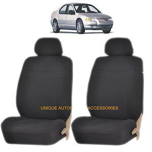 black elegance airbag compatible lowback seat covers for chrysler aspen pacifica ebay. Black Bedroom Furniture Sets. Home Design Ideas