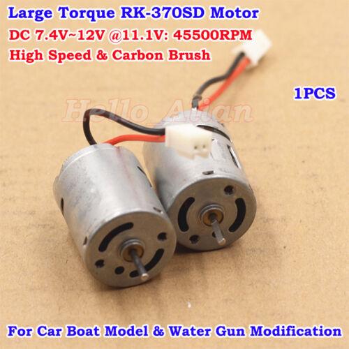 Strong Magnetic 370 Motor DC 6V 7.4V 11.1V 12V 45500RPM High Speed Carbon Brush
