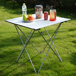 Delicieux Image Is Loading Aluminum Roll Up Table Folding Camping Outdoor Indoor