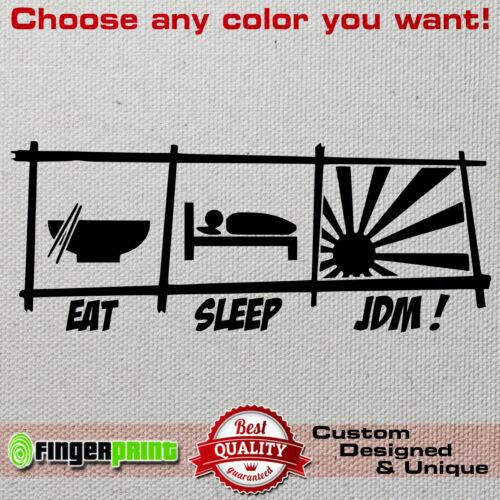 Eat Sleep JDM sticker decal vinyl funny honda toyota mitsubishi mazda nissan evo