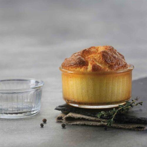 Duralex Oven Chef Glass Ramekins for Crème Brulee Desserts 10cm x8