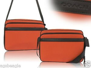 Coach-Nylon-Flight-Case-F71406-Gunmetal-Orange-Agsbeagle