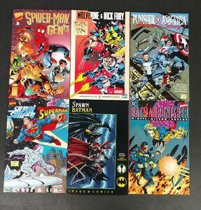 spiderman punisher superman surfer batman spawn 6 crossover trades