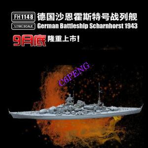 Flyhawk-FH1148-1-700-SCALE-German-Battle-ship-Scharnhorst-1943-MODEL-2019-NEW