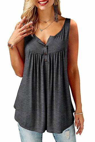 US Ladies Plus Size Top Casual Shirt Summer Women Long Blouse Tops Tunic T-shirt