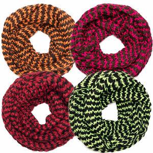 Schal-Schlauchschal-zweifarbig-Loopschal-gestrickt-XXL-Strickschal-tolle-Farben