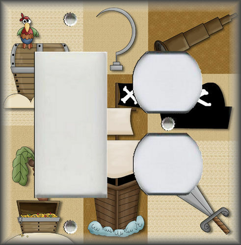 Kids Room Decor Metal Light Switch Plate Cover Boys Room Pirate Decor Kids
