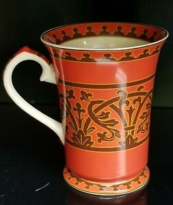 Harry-and-David-Ornate-Scroll-work-Footed-Coffee-Tea-Cup-Mugs