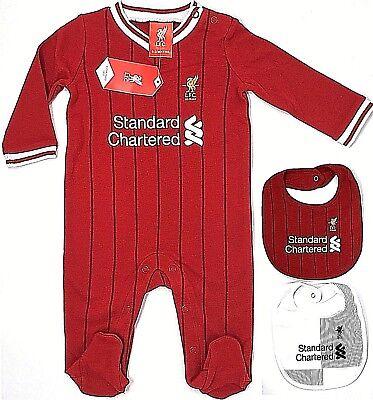 Liverpool FC New 2019 Babies Pram Sleep Suit LFC Baby Play Grow Bodysuit 0-18mts