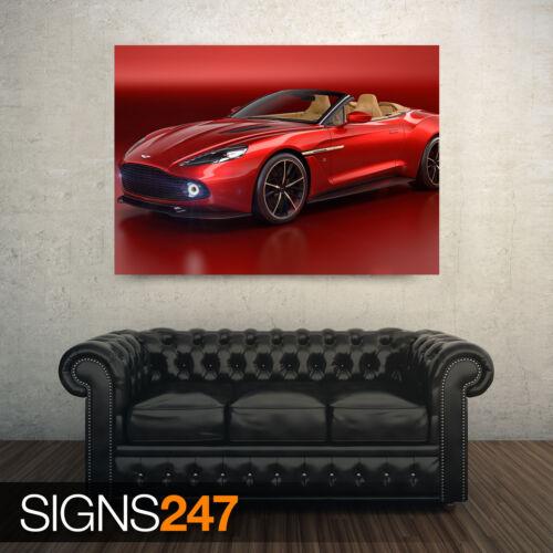 AC560 CAR POSTER RED ASTON MARTIN VANQUISH Poster Print Art A0 A1 A2 A3