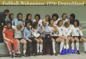 Fussball Weltmeisterschaft Weltmeister Postkarten Serie