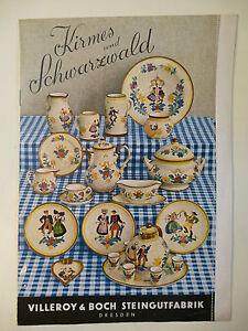Original Katalog Prospekt Schwarzwald Kirmes Villeroy Boch Dresden - Preisliste villeroy und boch