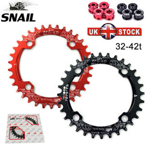 SNAIL-BCD104mm-32-42T-Bike-MTB-Chainring-Round-Oval-Narrow-Wide-Crankset-Bolts