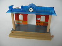 STATION PLATFORM BUILDING  for Wooden Train Track Set  ( Brio Thomas) TS