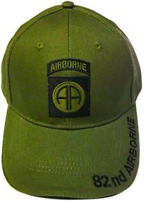 d24d1e3261072 Image is loading 82nd-Airborne-Insignia-Hat-U-S-Army-OD-Green-