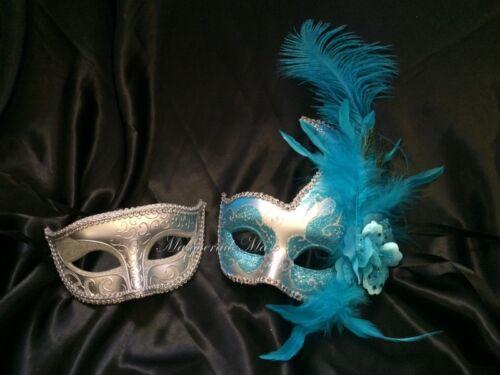 Couple Masquerade Ball Mask Set School Dance Prom Wedding Bachelor Engagement