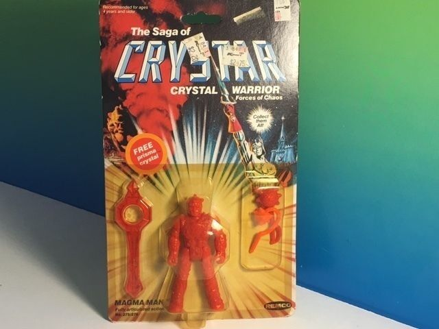 VINTAGE 1982 REMCO CRYSTAR ACTION FIGURE MOC CRYSTAL WARRIOR MAGMA MAN CHAOS GEM