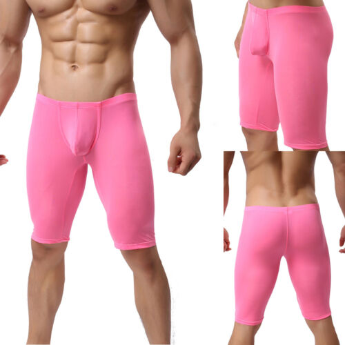 Uomo Leggings 3/4 Pantaloni Sport Shorts fermiamo PINK ROSA NUOVO M/L