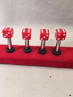 Pt Cruiser Red Vegas Dice Door Lock Pins Set/4 Fits Many Other Classics Too