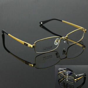 2f264f47270 100% Pure Titanium Spectacles Men Full Rim Optical Eyeglass Frame ...