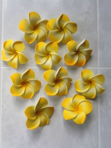 Pack of 50 foam latex frangipani flowers approx 4-4.5cm various colours