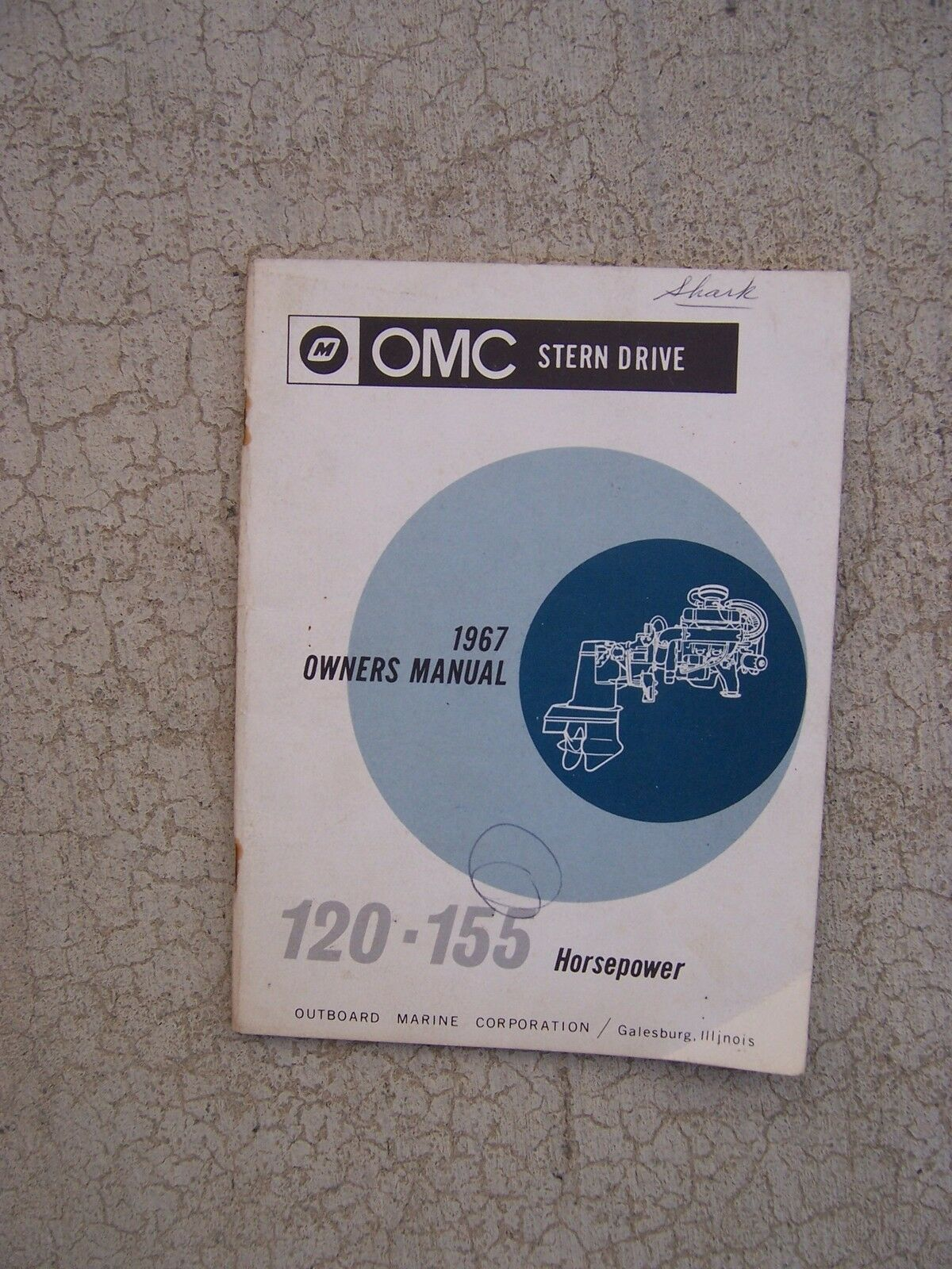 1967 Omc Stern Drive 120 155 Horsepower Owner Manual Lubrication Maintenance S Ebay
