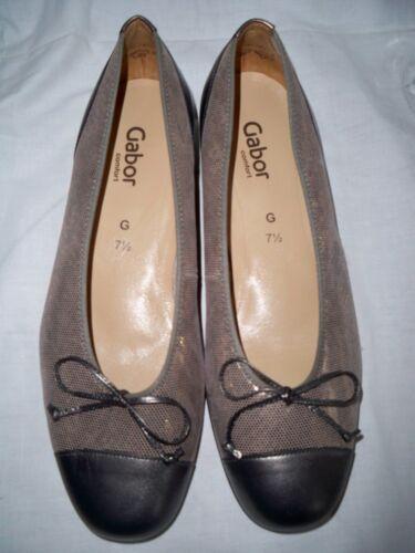 e Flat Ballet Shoes Comfort Uk Pewter £ 85 Rrp 71 G 2 Gold Gabor AwxEXwq
