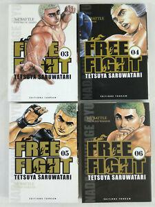 Lot-de-4-Manga-Free-Fight-New-Tough-VF-Tomes-3-a-6-Saruwatari-Envoi-rapide-suivi