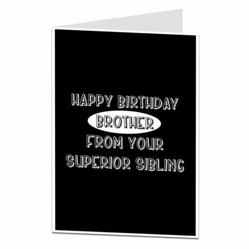 Carte d/'anniversaire pour frère de Supérieure Soeurs