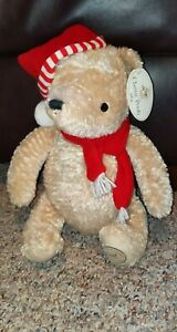 Disney-Classic-Winnie-the-Pooh-Stuffed-Plush-Toy-Baby-039-s-First-Christmas-16-034-NWT