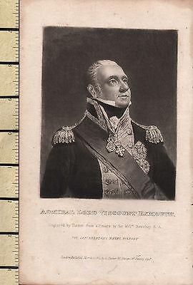 Art Prints 1823 Georgian Print ~ Admiral Lord Viscount Exmouth