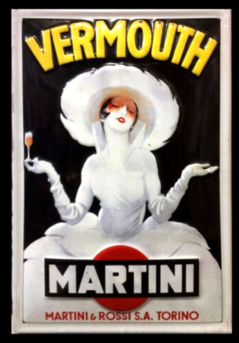 Retro Vintage Alcohol Bar Pub Restaurant Posters #34 A3 Vermouth martini