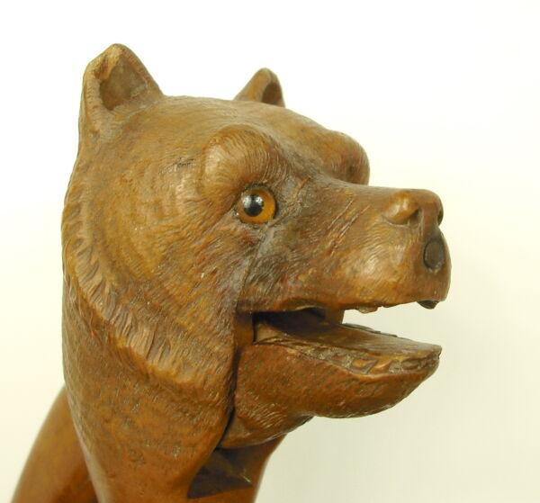 Aufstrebend Nußknacker Bär Grizzly Bär Nussknacker Nussknacker Orsi Schiaccianoci C 1900