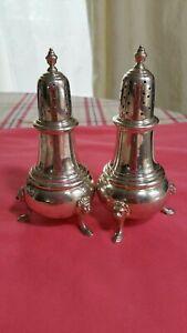 234g-Vintage-Sterling-Silver-Salt-Pepper-Shaker-Set-marked-excellent-rare