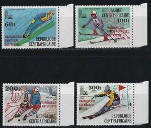 KStamps Lot C356 Central Africa # C224-227  red overprint  Mint