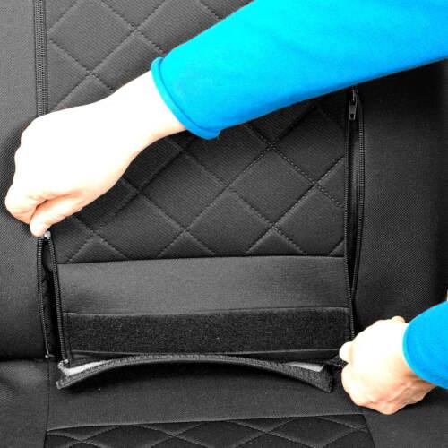 Negros intensamente fundas para asientos Ford Transit set extra función augabe apertura