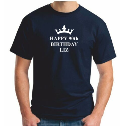 Mens The Queen Happy Birthday Liz T-Shirt Queens 90th Birthday T Shirt