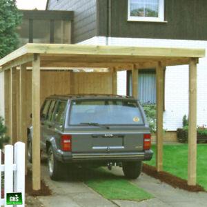 Carport 3x7 m, Holz-Bausatz 11/11 cm Stützen, Schneelast bis 200 Kg ...